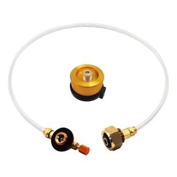 A szabadban kemping gáztűzhely propán utántöltő adapter tartály csatlakozó adapter gáz töltő tartozékok