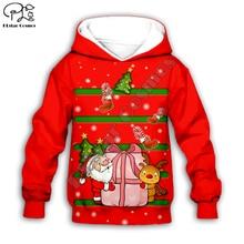 Kids baby Merry Christmas Santa claus reindeer 3D print cartoon hoodie zipper pullover Sweatshirt boy girl plus size christmas kind santa claus sweatshirt