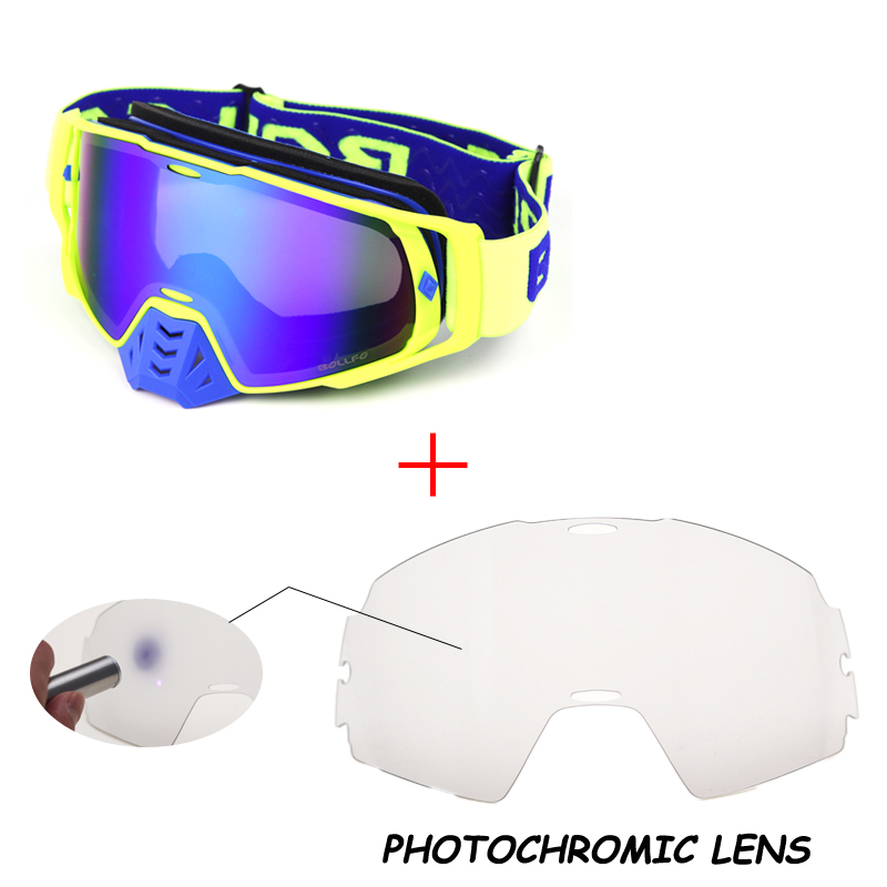 Photochromic Motocross Goggles UV400 MX Goggle ATV Off Road Dirt Bike DustProof Racing Glasses Anti Wind Eyewear Helmets Goggles
