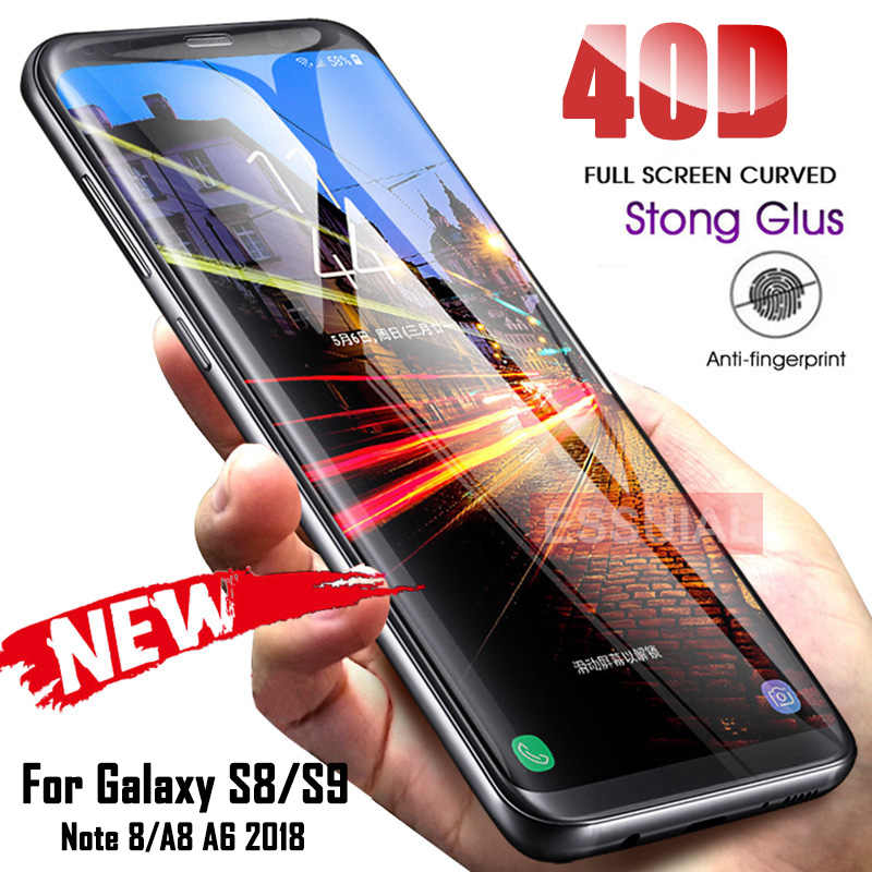 40D Full Curved Tempered Glass For Samsung Galaxy S8 S9 Plus Note 8 9 Screen Protector For Samsung A8 A6 S7 Edge Protective Film