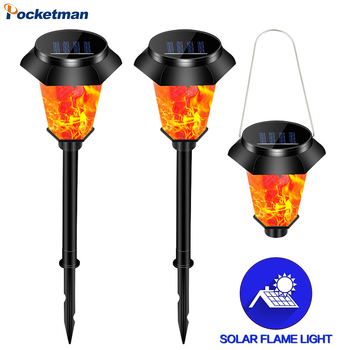 Solar Garden Lights Solar Lawn Light Outdoor Lighting Garden Lights Flickering Flame Torch Lights Yard Patio Outdoor Decoration image