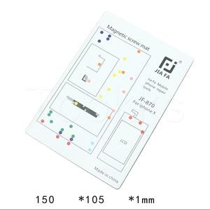 Image 5 - 17 Pcs Magnetische Schroef Mat Voor Iphone 11 Promax X 8P 8 7 7P 6 6S 6P 6SP 5 5 S 4 S 4 Iphone Reparatie Werk Met Kleurrijke Schroef Locatie