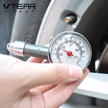 Vtear универсальный измеритель давления воздуха в шинах манометр для измерения давления в шинах Автоматический Металлический тестер высокоточный манометр аксессуары для багажника диагностический автомобильный Стайлинг