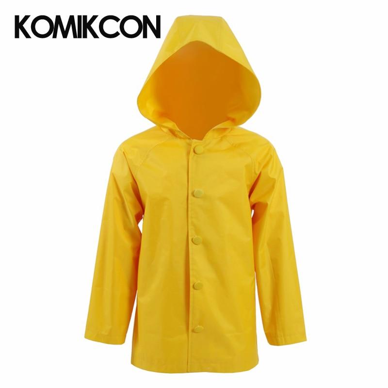 Stephen King's It Cosplay Georgie Denbrough Raincoat Costume Yellow Rainwear Halloween Christmas Costume For Women Men Kids
