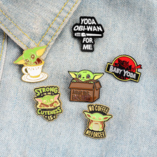 Disney Star Wars Mandalorian Baby Yoda Brooch for Women broche Badge Pins Metal Collar Brooches for Men Pines Metalicos Jewelry