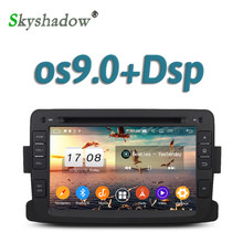 Leitor de dvd do carro tda7851 dsp 1024*600 android 9.0 4 gb ram gps google mapa rds rádio wifi bluetooth 4.2 para renault duster 2012 2013(China)