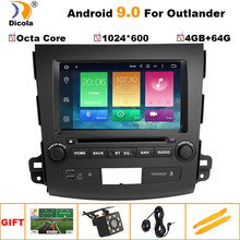 "8"" IPS4G+64G Android 9.0 In Dash Car Stereo DVD Player GPS for Mitsubishi Outlander 2007-2012 Peugeot 4007/Citroen C-Cross Radio(China)"