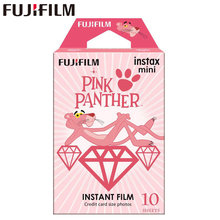 10แผ่นFujifilm Instax Miniฟิล์มInstax Mini 11 8 9สีชมพูPANTHERฟิล์มสำหรับFuji Mini 7S 25 26 70 90กล้องSP 1 SP 2