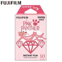 10 sheets Fujifilm Instax Mini Film Instax Mini 11 8 9 PINK PANTHER Film For Fuji Mini 7s 25 26 70 90 Instant Camera SP 1 SP 2