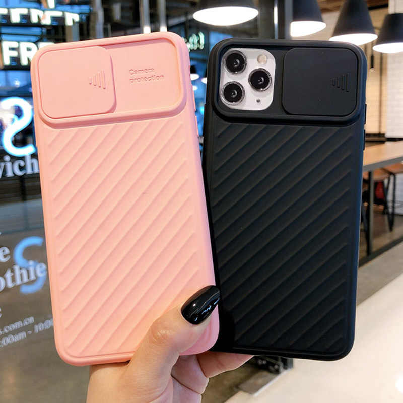 Camera Bescherming Shockproof Phone Case Voor Iphone 11 Pro 11 X Xr Xs Max 7 8 6 6S Plus effen Kleur Zachte Tpu Silicone Cover