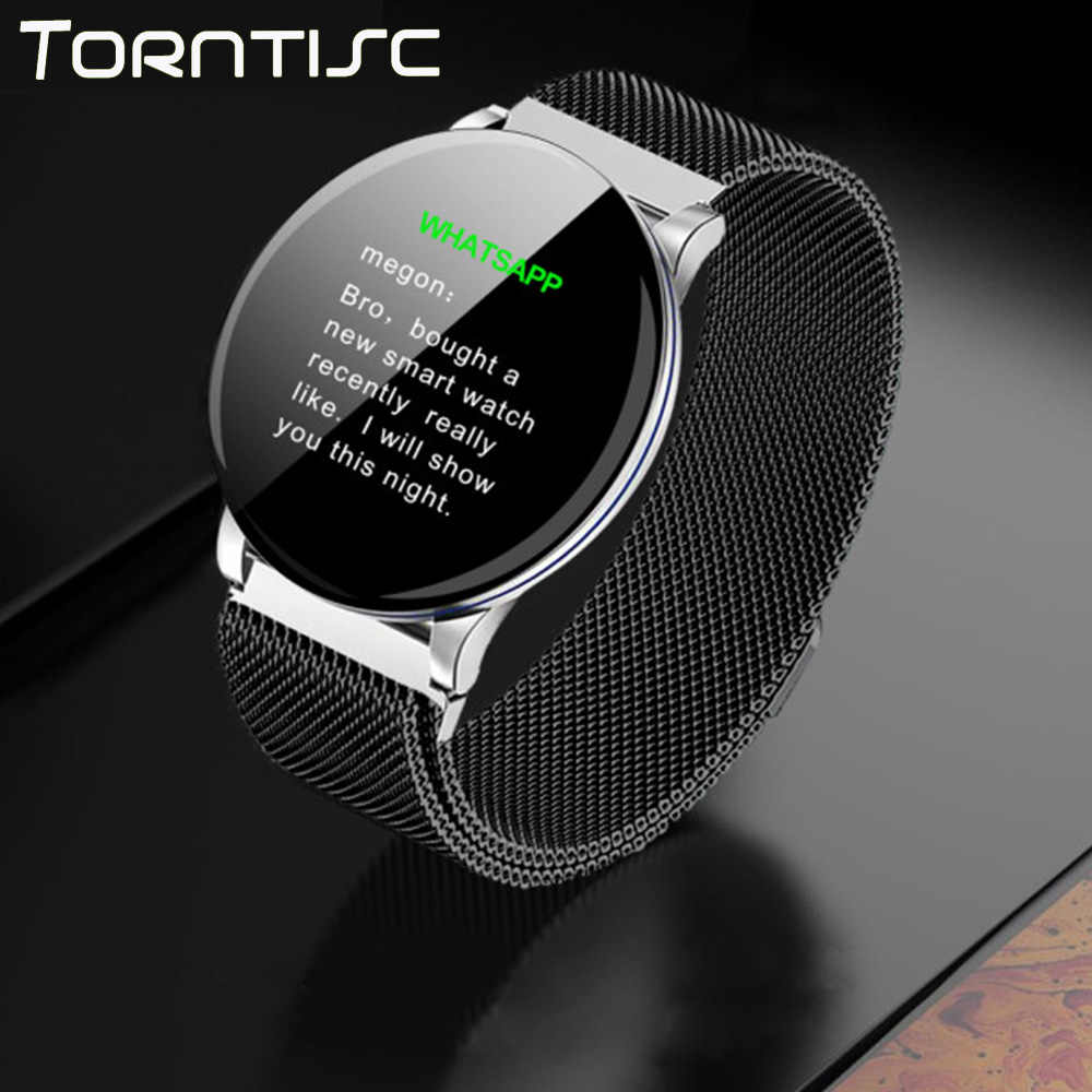 Torntisc Smart Watch Full Round Touch Blood Pressure Oxygen Dynamic Heart Rate Monitor Smartwatch Men Women for Apple Android