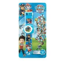 Щенячий патруль 3D проекция мультфильм детские часы Аниме Фигура развивающие маленькие дети мальчики девочки часы игрушки для детей 2D33