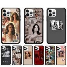 Sexy cantante modelo Lana Del Rey casos de teléfono para Iphone 5 5 s 6s 7 8 Plus Xr X Xs X Max 11 12 Pro Max