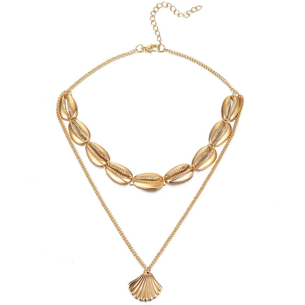 Artilady vỏ Vòng Cổ Choker dây chuyền vàng cổ Cowrie Boho trang sức cho làm quà thả vận chuyển