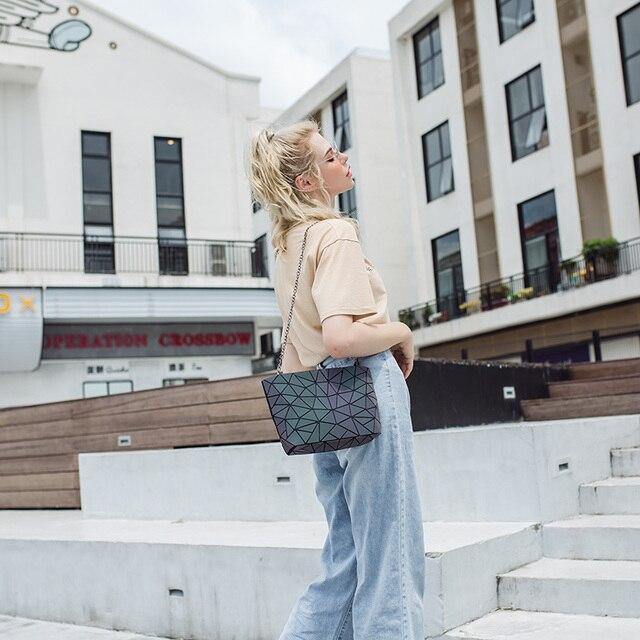 DIOMO Messenger Bag Women's Chain Bag 2019 Fashion Luminous Geometric Sling Bag Sac Femme Shoulder Strap Female Bolsas Feminina 4