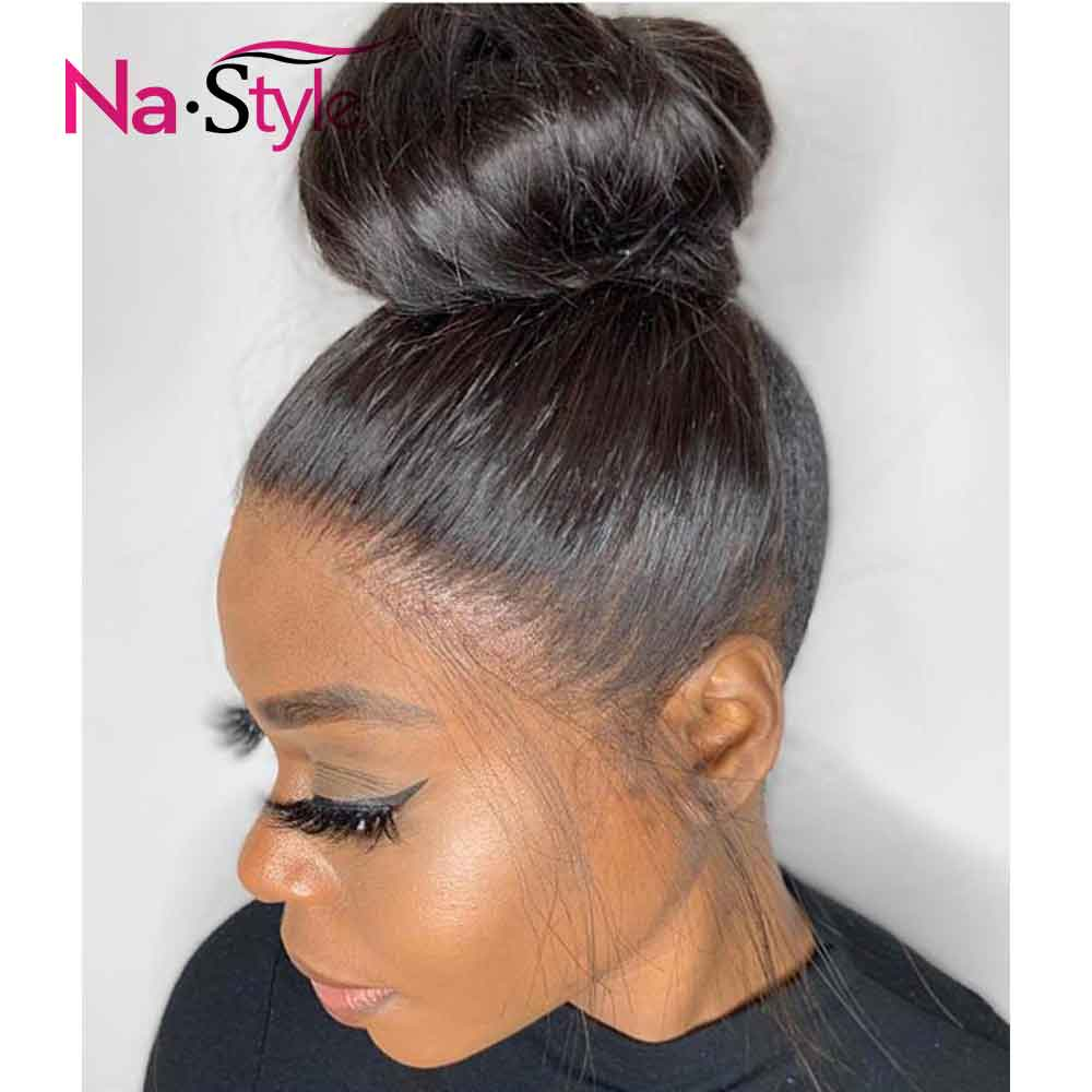 Fake Scalp Wig 360 Lace Wig Preplucked 360 Lace Frontal Wig Pre Plucked With Baby Hair Straight Human Hair Wigs Brazilian Hair