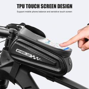 Светоотражающая велосипедная сумка для езды на велосипеде MTB, с сенсорным экраном, водонепроницаемый чехол-труба, велосипедная передняя ра...