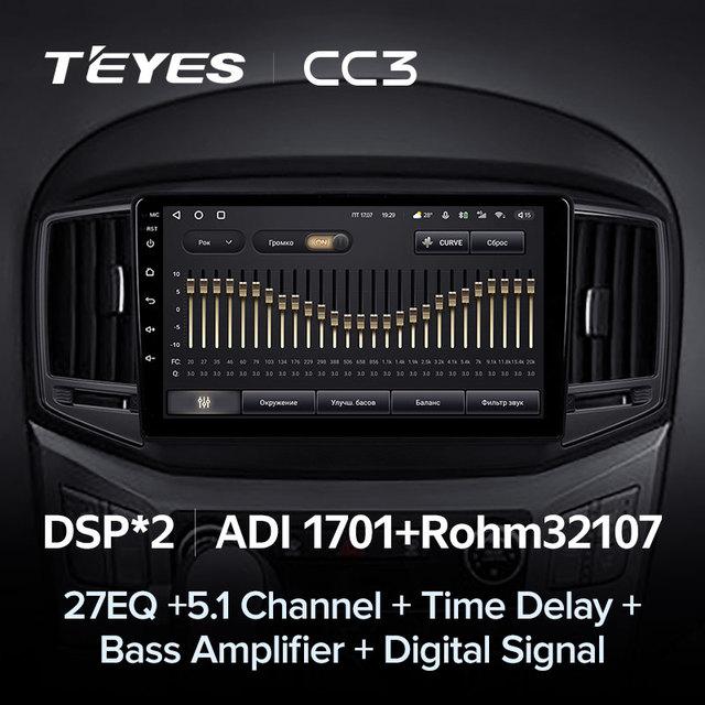 TEYES CC3 Штатная магнитола For Хендай H1 2 For Hyundai H1 2 2017 - 2018 до 8-ЯДЕР, до 6 + 128ГБ 27EQ + DSP carplay автомагнитола 2 DIN DVD GPS android 10 мультимедиа автомобиля головное устройство 4