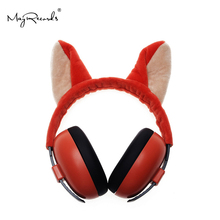 Animal Series Child Hearing Protector NRR 22DB Anti-noise Soft Earmuffs For Kids Noise Reduction Ear Protection Earmuff Sleeping 3m h6f earmuffs folding earmuffs hearing conservation anti noise hearing protector for drivers workers ku014