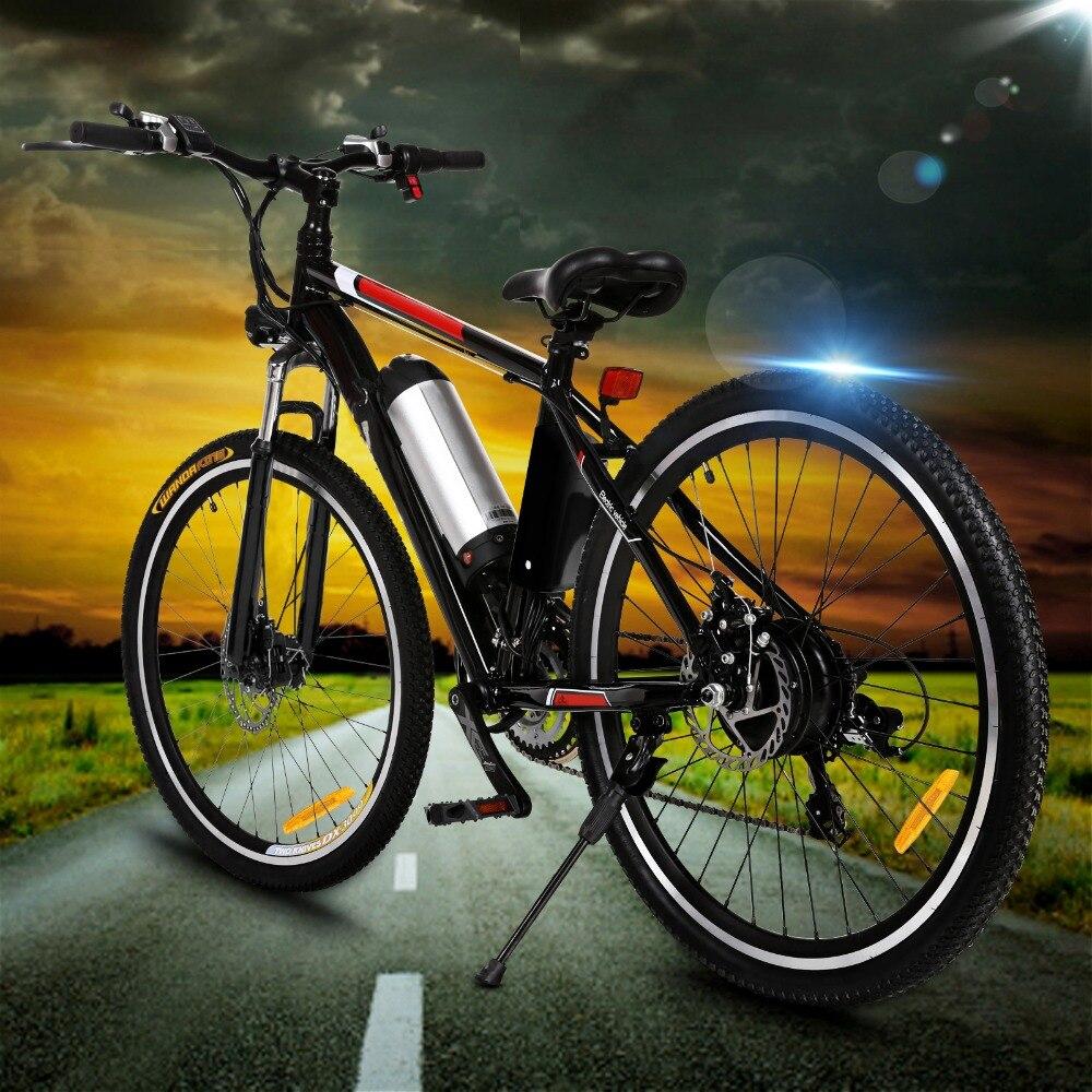 Leistungsstarke Elektrische Bike 26 Zoll 250W EBike 21 Geschwindigkeit Elektrische Berg Fahrrad Elektrische Auto City Road Bicicleta Falten Radfahren