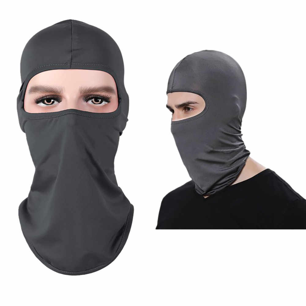 Coupe-vent tactique moto cyclisme chasse en plein air ski masque casque casquette complète randonnée Sport accessoires couleur unie