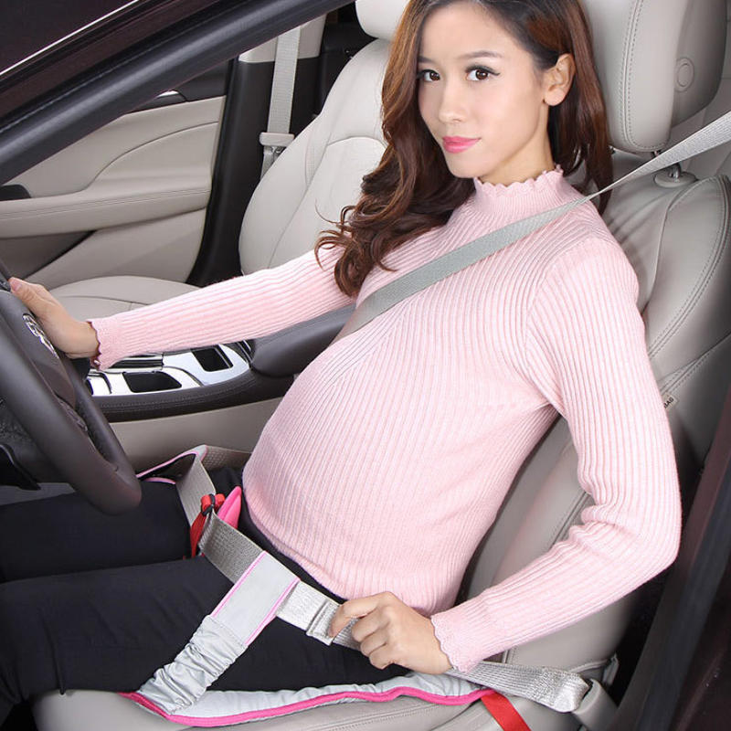 Car Seat Belt Clip For Pregnant Women Driving Safety With Cushion Shoulder Pad Car Soft Strap Pregnancy Safety Protection Cover