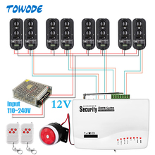 Towode GSM SMS 100M Perimeter Alarm System Infrared Beams for Home House Garden Farm Security Alarm Siren IR Barrier