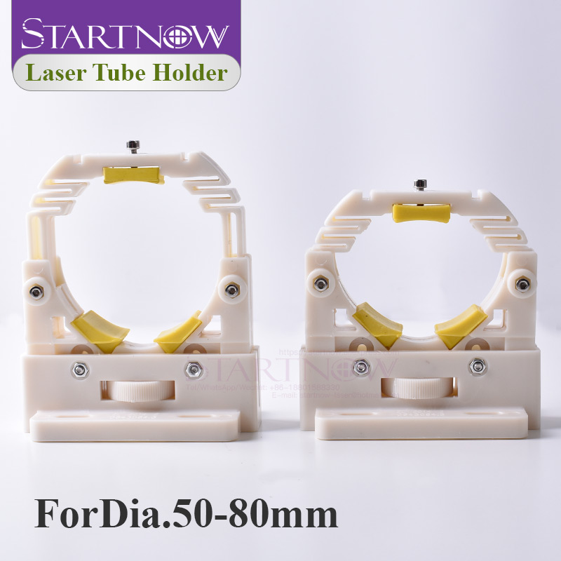 Startnow 50-80mm Laser Tube Support Mount Base Flexible Lamp Holder Adjustable Plastic Bracket For CO2 Laser Machine Spare Parts
