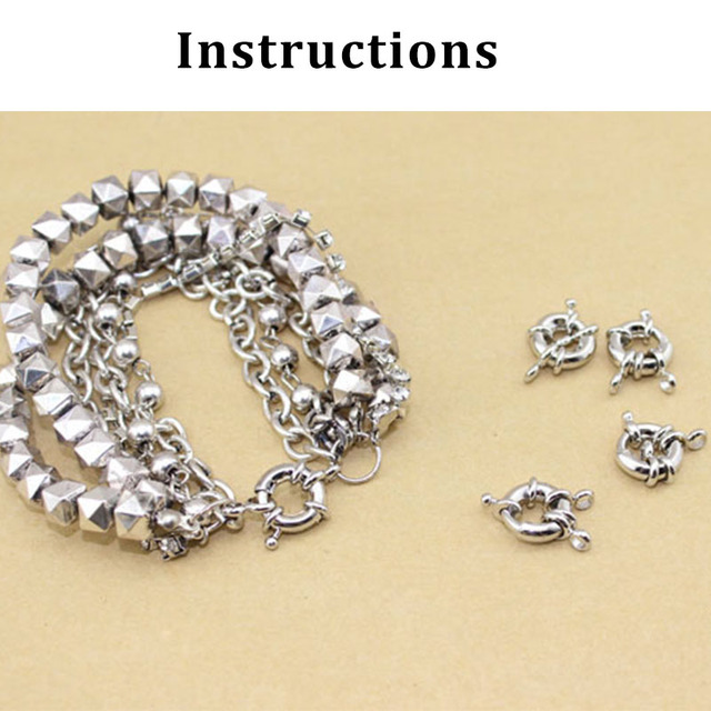10pcs Copper Sailor Clasps Connector Fit Charm Bracelets End Clasps DIY Jewelry Making Findings Round Clavicle Necklace Clasp 6
