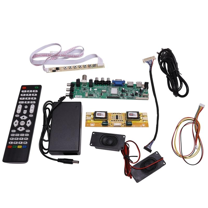 DS. D3663LUA. A81 DVB-T2/T/C TV numérique 15-32 pouces universel LCD TV contrôleur carte pilote pour 30Pin 2Ch, 8 bits (prise ue)