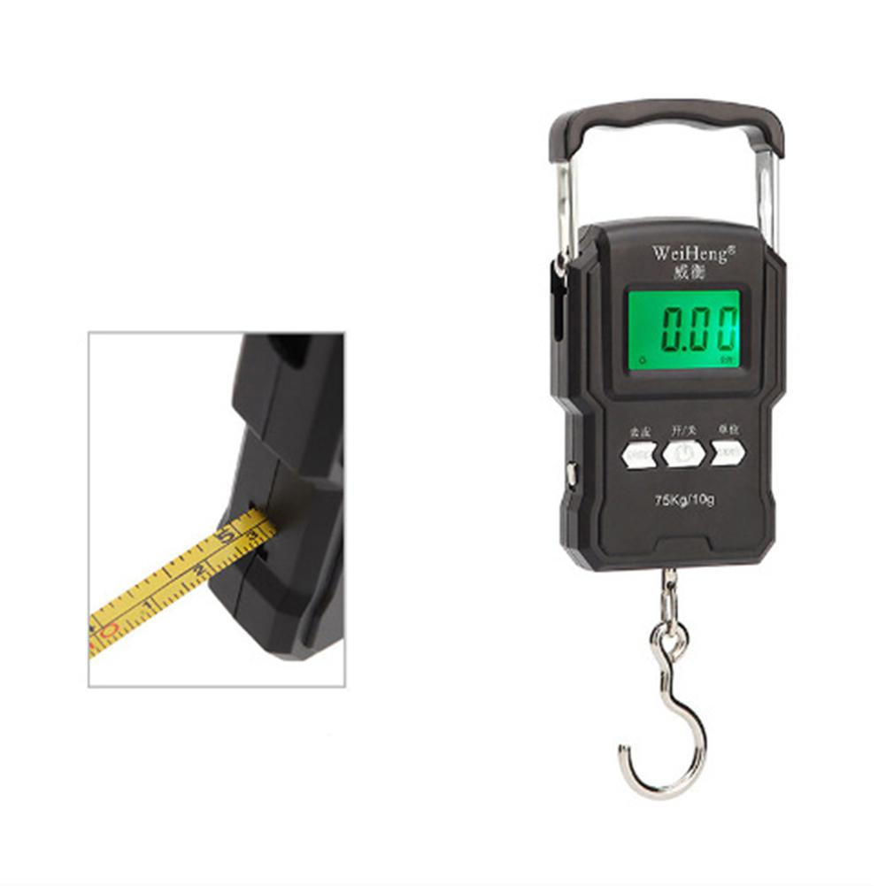 HiMISS Digital Scale For Fishing Luggage Travel Weighting Steelyard Hanging Electronic Hook Scales Kitchen Weight Tape Tools