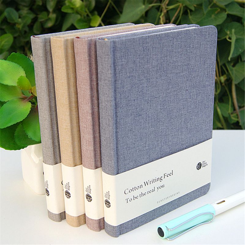 OUR-STORY-BEGINS Cotton Times Series A5 Blank Inner Page Original Notebook Hardcover Notepad