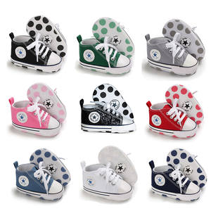 Girl Shoes Crib First-Walkers Sole Canvas Anti-Slip Toddler Newborn Infant Soft Baby