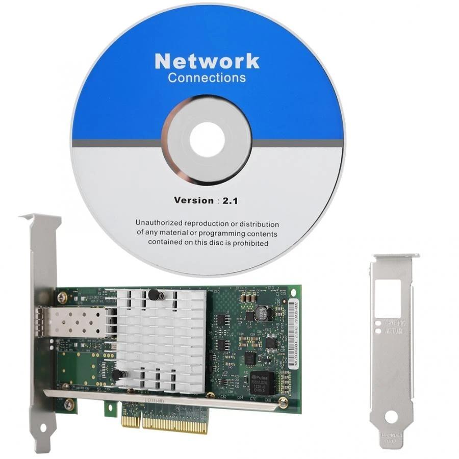 Ethernet Converged Network Adapter E10G41BFSR Oumij1 PCI-E Network Card for intel X520-SR1 10G 82599EN SFP