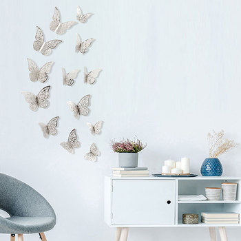 12 Pcs/Set 3D Wall Stickers Hollow Butterfly for Kids Rooms Home Wall Decor DIY Mariposas Fridge stickers Room Decoration 1