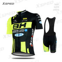 NEUE Radfahren Kleidung BH Pro Team MTB Kleidung Männer Kurzarm Jersey Set sommer Rennrad Uniform Triathlon Skinsuit Schnell trockenen