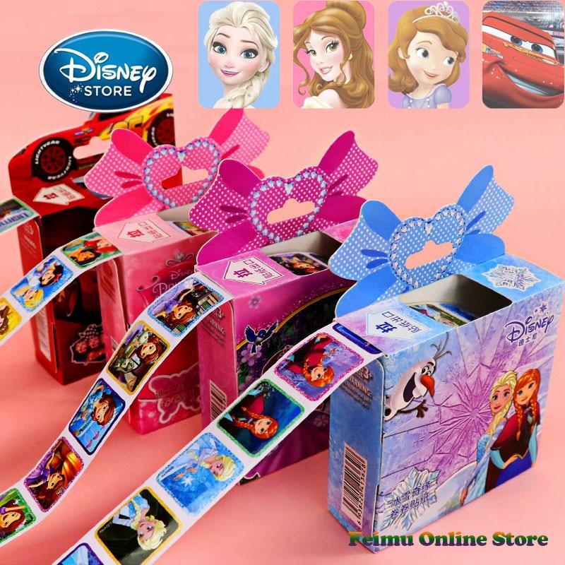 Disney 200 pièces/1 boîte reine des neiges 2 autocollant bébé fille jouets dessin animé Mickey Elsa Sophie foudre McQueen autocollant valise enfant cadeaux