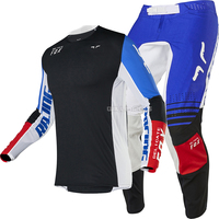 2020 Racing Flexair Honr Mens MX Offroad Jersey Pant Black Blue Motocross Adult Gear Combo