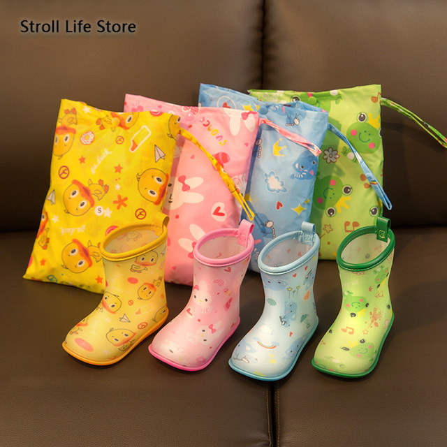 Yellow Duck Raincoat Kids Cute Rain Coat Boots Jacket Waterproof Cartoon Long Umbrella Rain Poncho Hiking Rainwear Impermeable 2