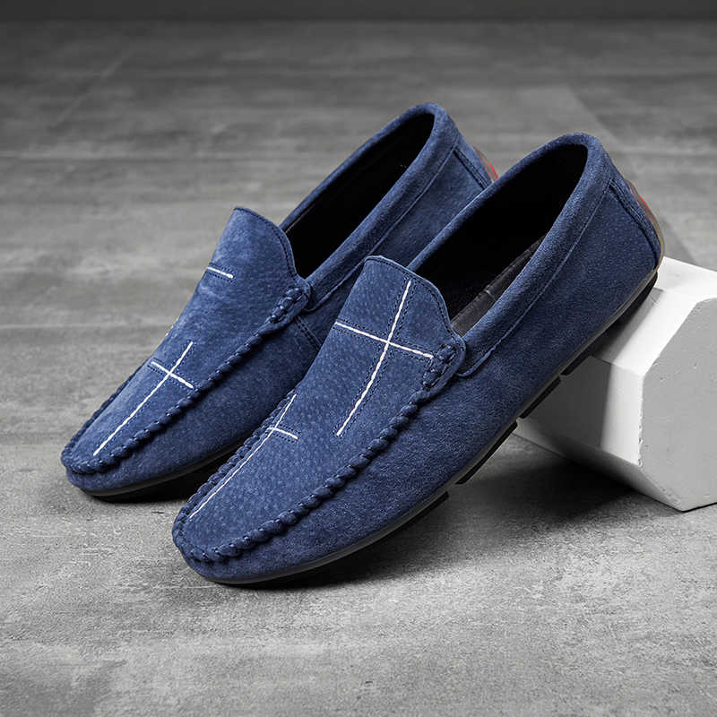 Leather Shoes Men Loafers Hot Sale Slip