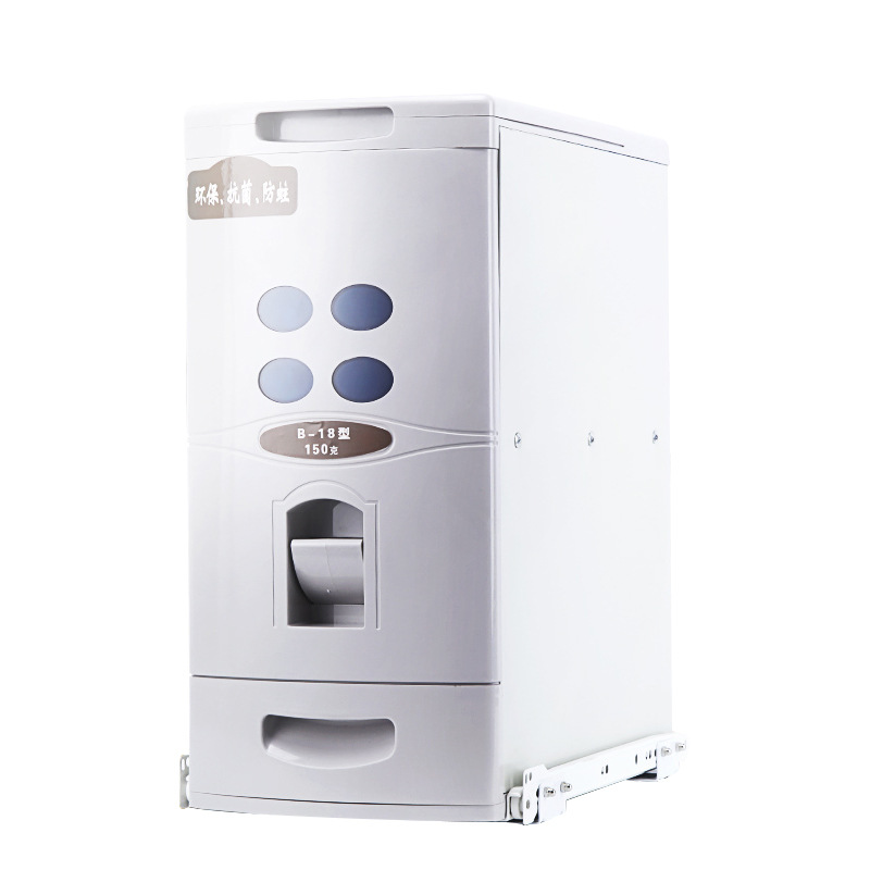 Rice Box Cabinet with Built-in Track Moisture-proof Rice Cabinet