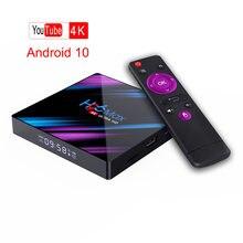 H96 max android tv box rk3318 4k hd 10 ТВ приставка netflix
