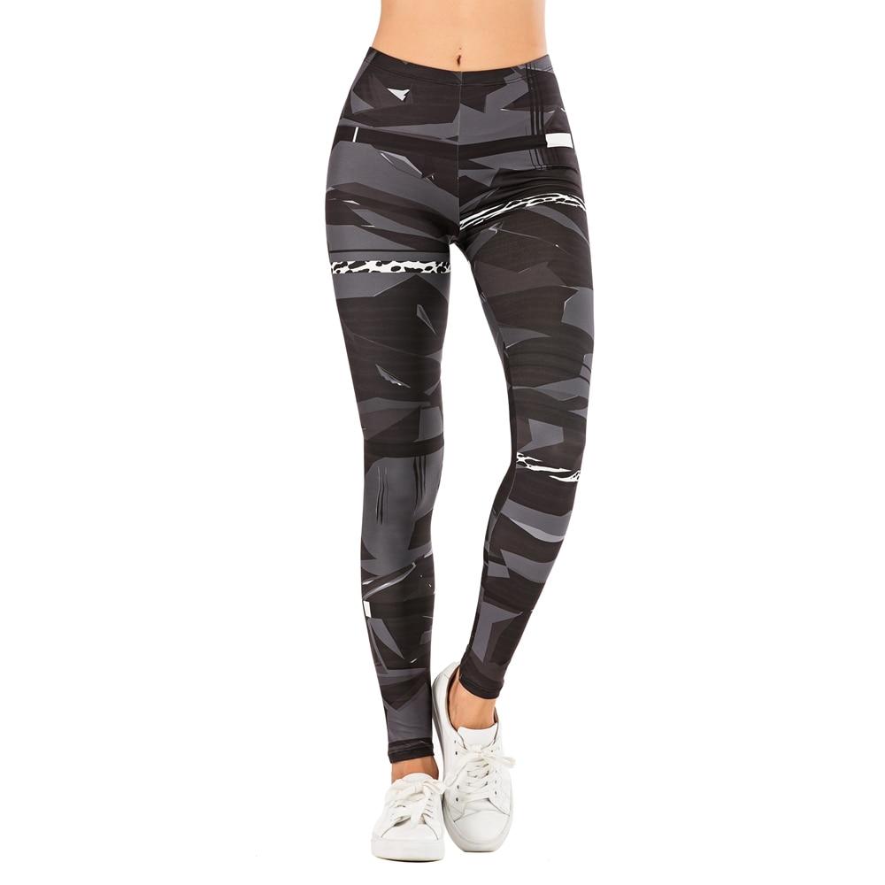 Fashion Woman Pants Sexy Women Legging Geometric stitching leopard Printing Fitness leggins Slim legins stretchy Leggings 1