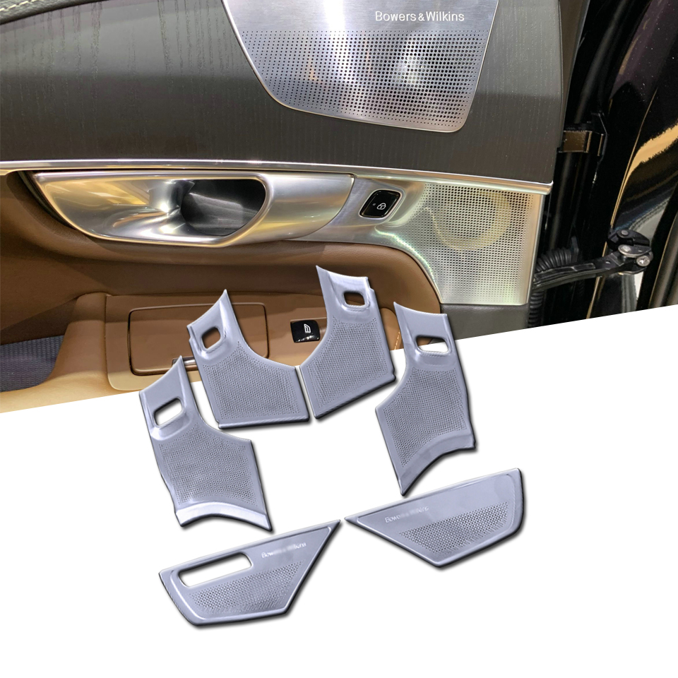 6Pcs Speaker Inner Horn Loudspeaker Music Sound Cover Frame Trim Kit For <font><b>Volvo</b></font> <font><b>XC90</b></font> <font><b>2016</b></font> - 2020 Car <font><b>Accessories</b></font> Audio Cover image