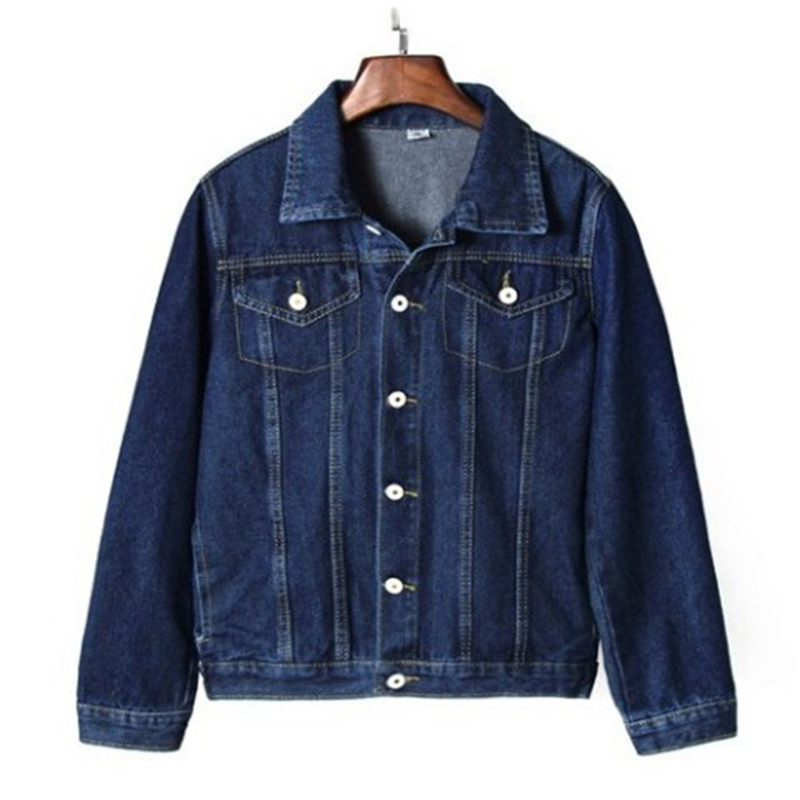 Denim jacket ladies loose casual blue ladies jacket cowgirl female autumn jacket 2019 fashion wild lapel Korean version S M L XL in Jackets from Women 39 s Clothing