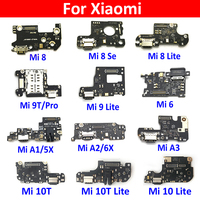 USB 충전기 충전 도크 포트 커넥터 Xiaomi Mi 6 11 10T 10 9 8 Se A1 A2 Lite A3 11 Pro Pocophone F1 용 플렉스 케이블