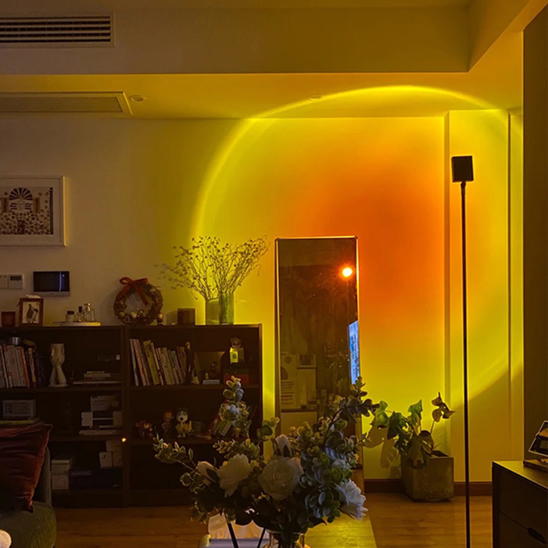 Sunset Projection Lamps Lighting Floor Lamp Sunlight Ambient Lamp USB LED Floor Light Home Decor for Living Room Bedroom