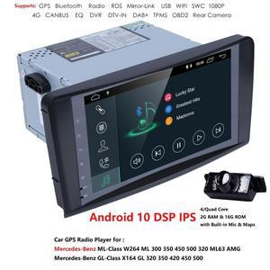 Image 4 - Hizpo DSP 4 ядра IPS Android10.0 автомобильное радио для Mercedes/Benz/GL ML класса W164 ML350 ML500 X164 GL320 Canbus 4G Wifi GPS BT Радио