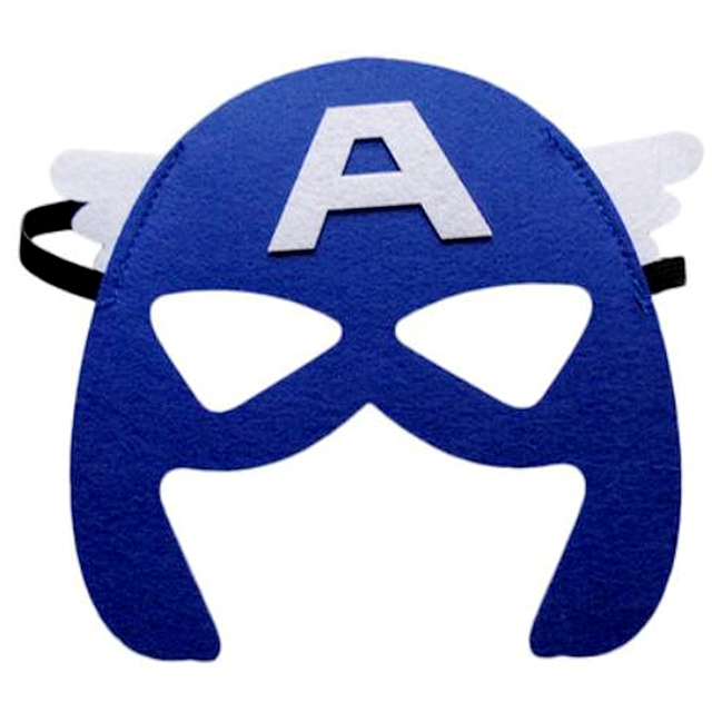 15pcs/lot Super hero Avengers theme Half Face Mask Costume Dress Up Masks Birthday Party Decoration Supplies kids children Gifts 3