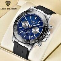 En este momento de la marca de lujo de los hombres reloj de cuarzo Casual correa de silicona cronógrafo militar hombres 30M impermeable reloj de pulsera reloj Masculino